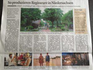 """Presseartikel: """"So produzieren Regisseure in Niedersachsen"""""""